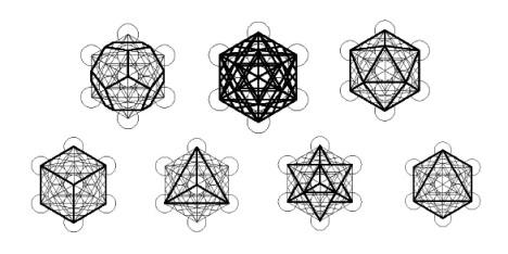 The Platonic Solids, Derived from Metatron's Cube - Jelila - www.jelila.com