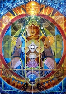 Sacred Shape Geometry Light Language Grid example for Happy Marriage, by Jelila   www.jelila.com Agora Gallery image