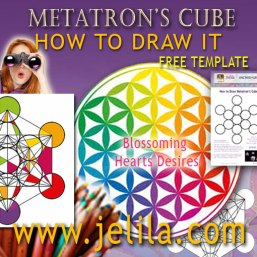Want to know how to draw Metatron's Cube?  With my Easy Downloadable Template Print Out Colour In of Metatron's Cube? - www.jelila.com