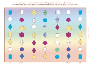 Sacred Shape Geometry:  49 Shape Light Language Grid for Prosperity.  Grids are individually designed for each person.