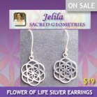 Want some cool Flower of Life Silver Earrings?  The shape on which Metatron is based? - Jelila - www.jelila.com