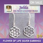 Sacred Geometry Flower of Life Earrings for Harmony?  $19.  Click to Buy. www.jelila.com