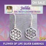 Want to wear or give as a gift the Seed of Life - from the Flower of Life?  Silver Earrings, Handmade, for Harmony - Jelila - www.jelila.com