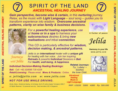 Jelila is Bali's best-loved international healer.  She brings light to your life and enables you to live in an easier, more satisfying way.  Discover your positive life change choices now, by clicking: https://jelila.wordpress.com/2009/11/06/discover-a-bold-new-you/