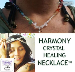 Want to feel harmony?  Harmonising Crystal Healing Necklace with 10 Kinds of specially programmed crystals - feel good every day! - Jelila - www.jelila.com