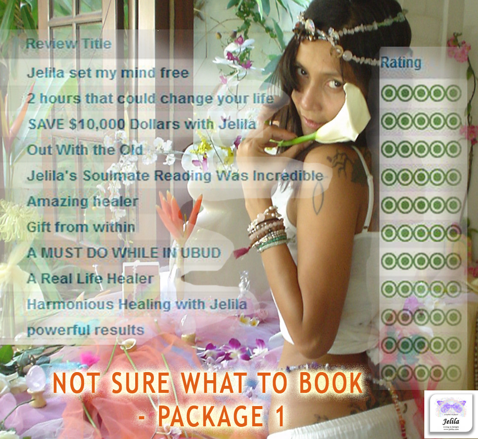 'Not Sure What to Book - Package 1' - with Jelila - www.jelila.com