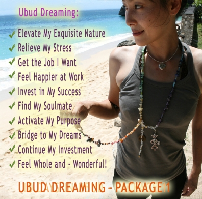 UBUD DREAMING - PACKAGE 1 - Online or In Person Healing Sessions with Jelila - www.jelila.com