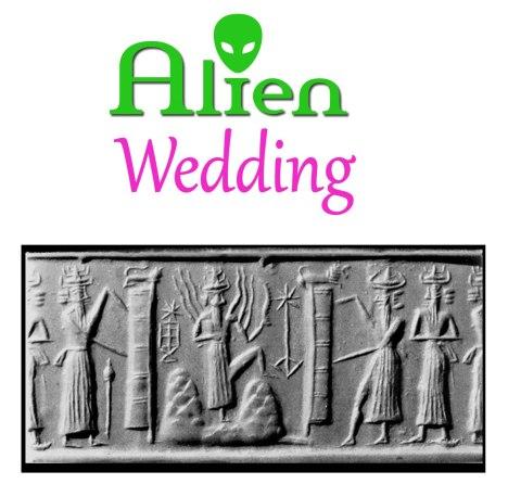 ALIEN WEDDING BOOK by Jelila - Ancient Alien Annunaki - Cuneiform Cylinder Seals - slave species of the gods -  Sumeria  - by Jelila