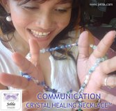 Communication Crystal Healing Necklace - for Power and Confidence - www.jelila.com
