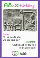 How do you feel about your DNA being stolen - Annunaki vs Human image by Jelila from Alien Wedding - Book on Amazon - www.jelila.com