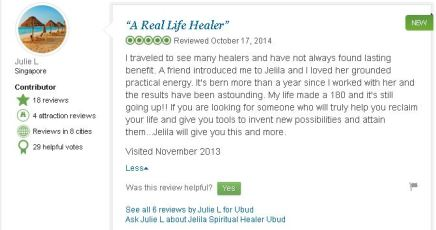 Please Click to see Jelila 5***** Reviews on Tripadvisor