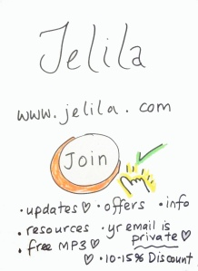 Want to join Jelila's Private Members List completely free and receive an immediate Free MP3, 15% Discount on all Music, 10% on other products right now? Jelila - www.jelila.com     FREE MP3!