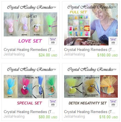 Collect 18 Crystal Healing Remedies for Harmony and wellbeing supporting every area of your life.  by Jelila - www.jelila.com