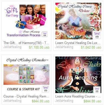 Packages, The Gift of Harmony Transformation Process, Crystal Healing Courses and Other Spiritual Courses Meditation Healing etc for Harmony and wellbeing www.jelila.com