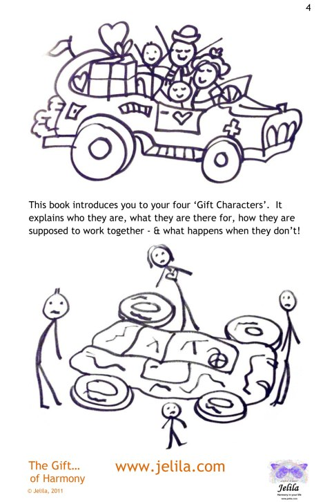 Got all 4 wheels going in the same direction? The Gift of Harmony Book by Jelila on Amazon &Kindle