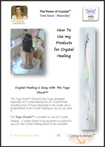 Chakra Balancing Crystals - The Yoga Chord - a rainbow of Chakra Crystals. Are your Chakras blocked?
