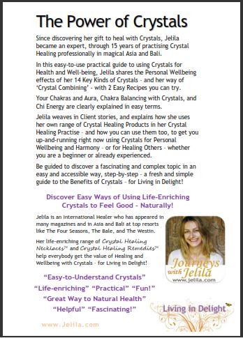 Discover an easy method of using Crystals for Health and Wellbeing