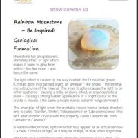 What Crystals are Uplifting?  Rainbow Moonstone and your Brow Chakra
