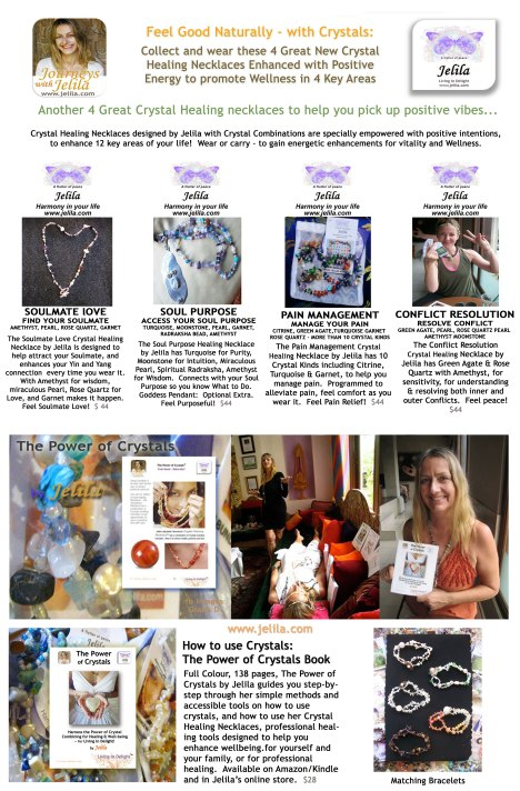 4 New Crystal Healing Necklaces By Jelila - Positive Energy!