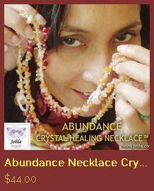 Abundance Wealth Crystal Healing Necklace By Jelila   www.jelila.com